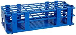 Bel-Art F18747-0002 No-Wire Test Tube Rack; 16-20mm, 40 Places, 9.7 x 4.1 x 2.5\