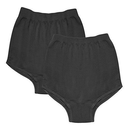 Intimate Portal Women's Over the Bump Ultra-Lite Seamless Maternity Brief (2 Pack) Black Medium
