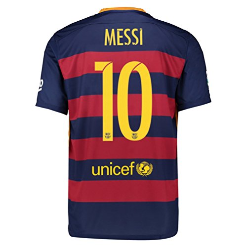 Nike MESSI #10 Barcelona Home Jersey 2015-16(Authentic name and number)/サッカーユニフォーム バルセロナFC ホーム用 メッシ 背番号10 2015 (L)