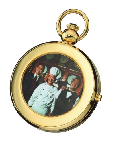 Charles-hubert, Paris Charles Hubert 3848 Gold-plated Mechanical Picture Frame Pocket Watch
