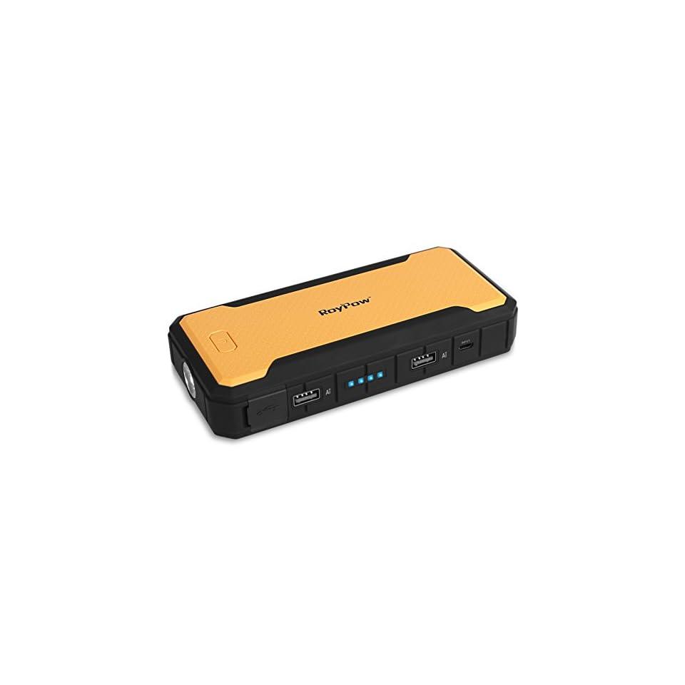Roypow [New Release] RoyPow Ultrasafe 4.0L Car Jump Starter 400A Peak Current & 12000 mAh Portable External Battery Charger...