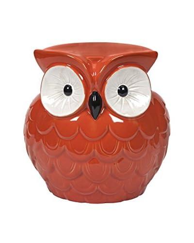 Mini Hoot Owl Orange Garden Stool