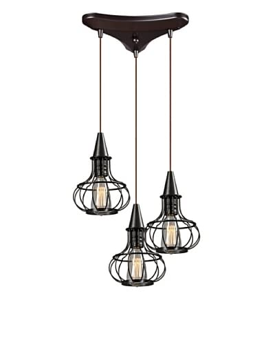 Artistic Lighting Yardley Collection 3-Light Chandelier, Oil Rubbed Bronze