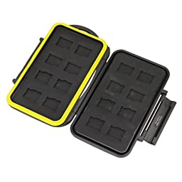 JJC MC-MSD16 Rugged Water-Resistant Memory Card Case (16x microSD Cards)