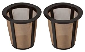 Breville Coffee Maker Gold Filter : Amazon.com: HIC Gold Tone Reusable Coffee Filter, 1-Cup: Breville Coffee Maker Parts: Kitchen ...