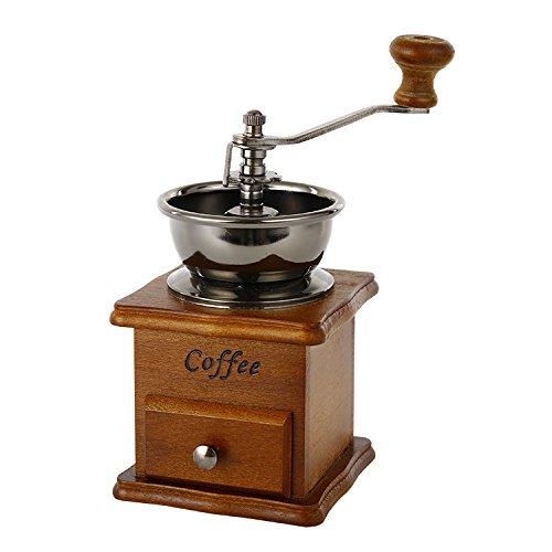 Jahrgang manuelle Kaffeemühle Keramik Konische Burr Tragbare Handkurbel Kaffee