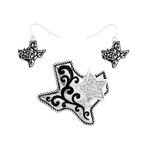 Pd 093c 40 Texas Star Clear Silver Plated