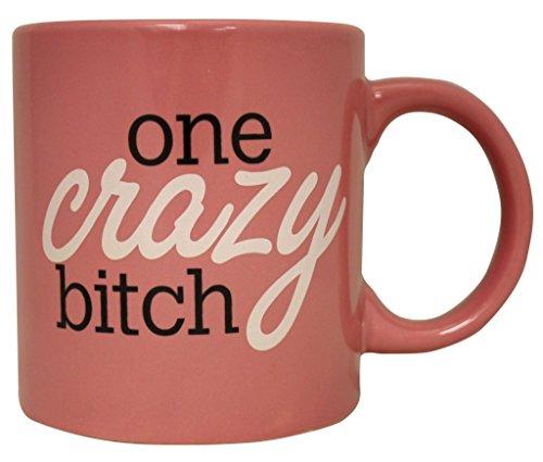 Attitude Mug One Crazy Bitch Pink Cup