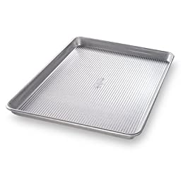 USA Pan Nonstick 12.5-Inch x 9-Inch Jelly Roll Pan with Silicone Coating Americoat Plus