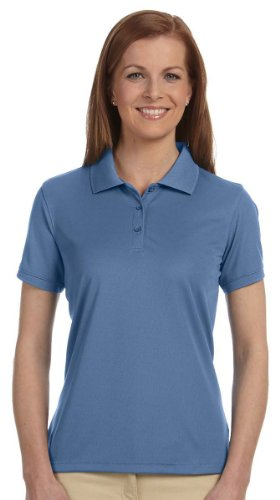 Details for Devon & Jones Blue Women's Dri Fast Advantage Solid Mesh Polo Shirt, Lake Blue, XX-Large from Devon & Jones