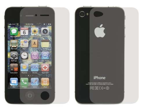 Tuneband for iPhone 4, Grantwood Technology's Armband, Silicone Skin, and Front and Back Screen Protector, Black