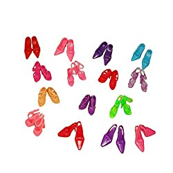 Imported 60pair/Set Assorted Shoes Boots for 29cm Barbie Dolls Random Color/Style