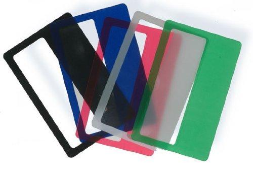 Credit Card Magnifiers 3x Magnification Semi-rigid Assorted Colors Mix 0.5mm Thin (Qty=5)