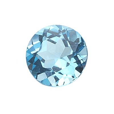 5.35 Cts of AAA 11 mm Round Loose Swiss Blue Topaz ( 1 pc ) Gemstone