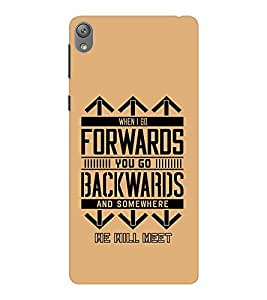 EPICCASE It's a Small World Mobile Back Case Cover For Sony E5 (Designer Case)
