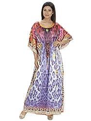 Saashiwear Women's Digital Print Kaftan Multicolour
