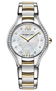 Raymond Weil Noemia Mother Of Pearl Diamond Dial Two Tone Stainless Steel Ladies Watch 5132-SPS-00985