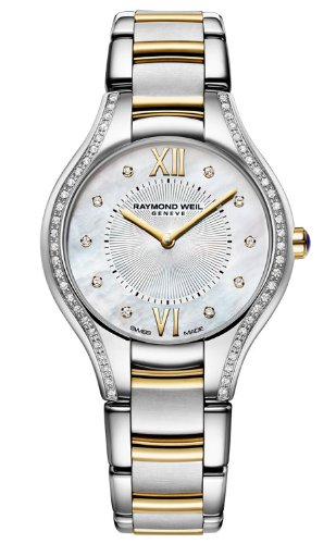 Raymond Weil Noemia Mother Of Pearl Diamond Dial Two Tone Stainless Steel Ladies Watch - womens watches - watches womens - ladies watches - watches for women