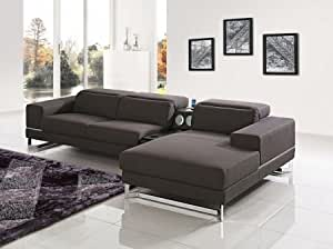 Amazon.com: VIG Furniture VGMB1416-BRN Divani Casa Cinema Modern Brown