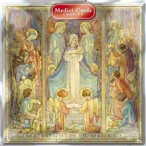 medici-charity-christmas-cards-unto-us-a-child-is-born-0122-pack-of-8-cards-sold-in-aid-of-marie-cur