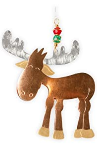 Pilgrim Imports Murphy Moose Metal Fair Trade Ornament