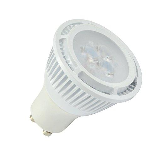 2X Lohas 4W Gu10 Cool White Led Spotlight 35W Equivalent Energy Saving Light Bulbs,Conjoined Lens Cover,Ivory White Alumium