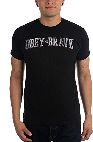 Obey the Brave-Live-Maglietta da uomo nero Medium