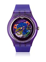 Swatch Reloj de cuarzo Unisex PURPLE LACQUERED SUOV100 41 mm