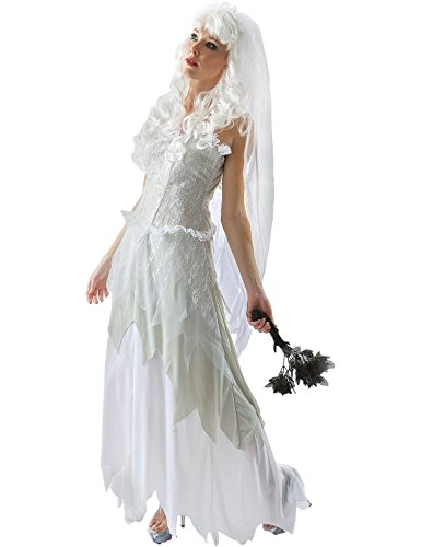 Gothic White Ladies Ghost Bride Halloween Halloween Costume Outfit
