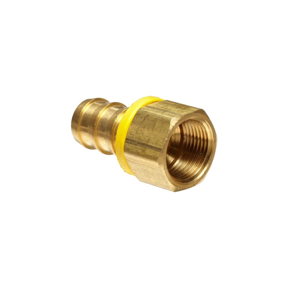 Anderson Metals Brass Push On Hose Fitting, Connector, 5/8 Barb x 1/2 Female Pipe