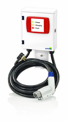 Leviton EVB22-3PT Evr-Green 160 3.8kW Home Charging Station, White