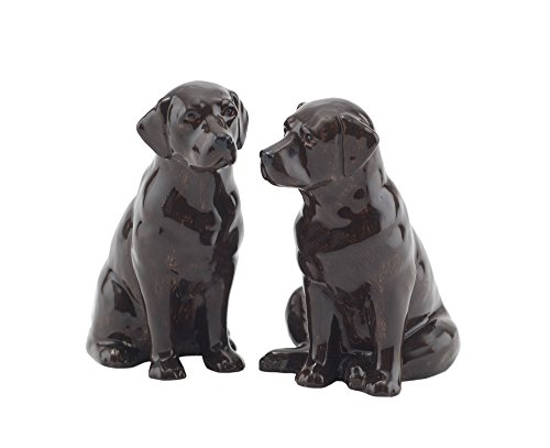 Quail Ceramics Chocolate Labrador Salt and Pepper Pots
