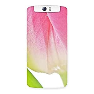 Special Pink And White Back Case Cover for Oppo N1