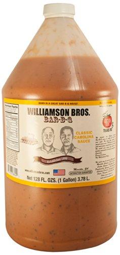 Williamson Bros Bar-B-Q Sauce Classic Carolina Sauce, 128 Ounce