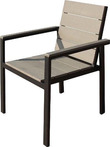 IB-Style – TOPPREIS Set Stapelstühle DIPLOMAT-POLYWOOD | 3 Set- Kombinationen | Aluminium / Polywood nature grey | Gartenstuhl Stapelstuhl Sessel Gartenmöbel Gartengarnitur – 4er Set jetzt kaufen