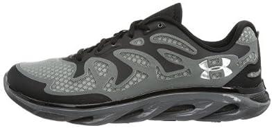Mens Under Armour Team Spine Evo Training Shoe Black/Black/Metallic Silver Size 9