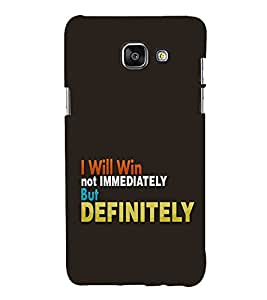 FUSON I will win Back Case Cover for Samsung Galaxy A7(2016)