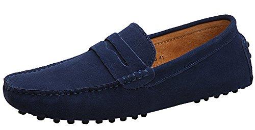 Yaer Classic Scarpe da uomo mocassini Slip On Penny Loafers (Blu Suro EU41)