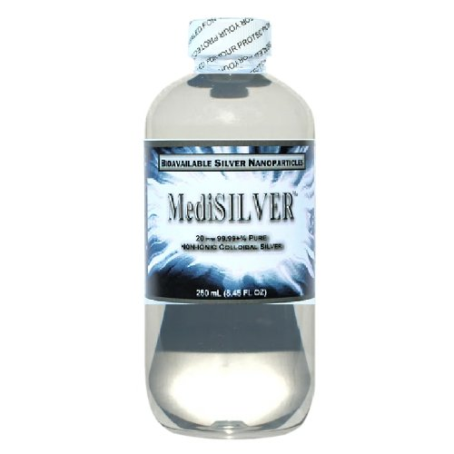 MediSILVER - 20 ppm Bioavailable Colloidal Silver - 250 mL