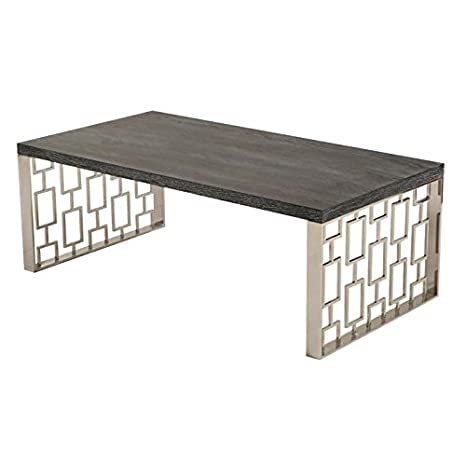 Armen Living Skyline Coffee Table, Charcoal