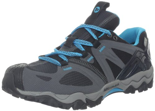 Merrell Women's Grassbow Sport Waterproof Trail Running Shoe, Black, 5 M US