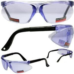 Colored Frame Safety Glasses : Global Mark Colored Lens ANSI Safety Glasses Purple Lens ...
