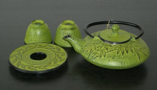Review Of Japanese Cast Iron teaset /Bamboo Med. Green