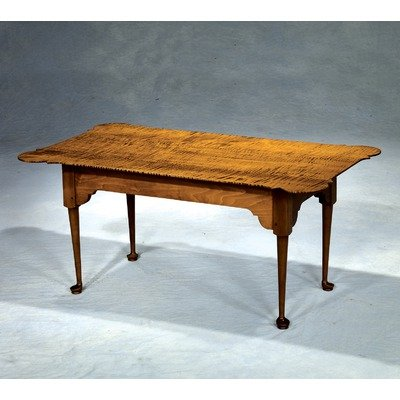 Chatham PTC9022 Antique Reproductions Porringer Coffee Table Top Finish: Tiger Maple Vintage, Bottom Finish: Tiger Maple Honey (PTC9022 (TM Vintage Top/TM Honey Base))
