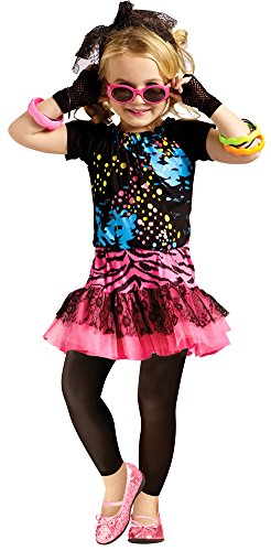 [80S Pop Party Toddler Costume 3T-4T - Toddler Halloween Costume] (80s Pop Party Girls Costume)