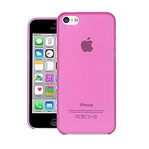 CUBIX® iPhone 5c Case, Hard (Semi Transparent) Super Slim Matte Back Cover For Apple iPhone 5c (Pink)