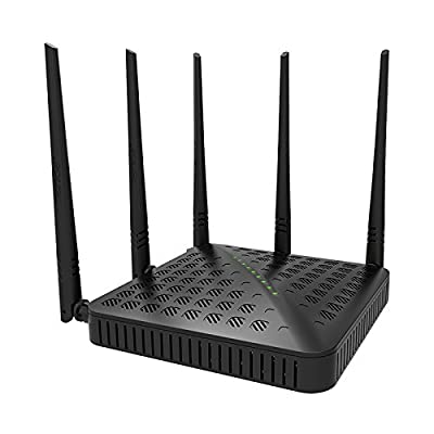 Tenda Fh1202 1200mbps Dual-speed Wireless Wifi Router,2.4ghz,5ghz,5 5dbi Antennas, and WPS Button,802.11n