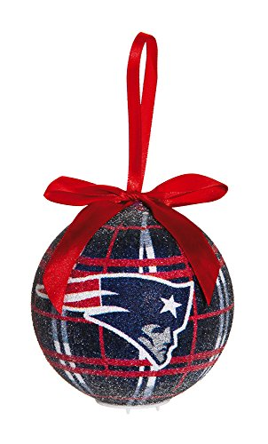100Mm Led Ball Ornament, New England Patriots