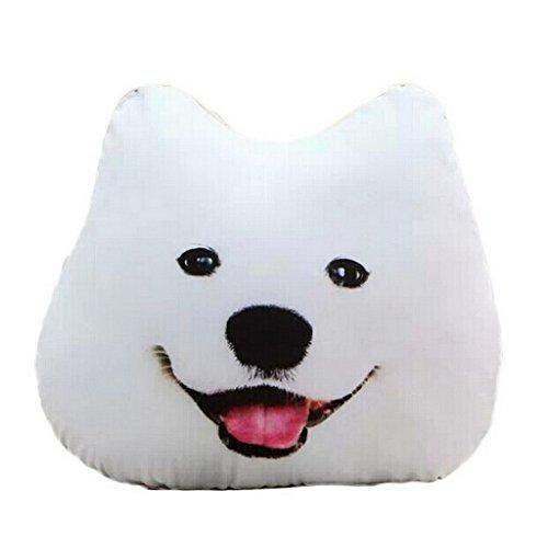 (ビグッド)Bigood フワフワ 柔らか かわいい リアル 犬 抱き枕 ぬいぐるみ クッション プレゼント 誕生日 彼女 子供 お昼寝まくら チェアクッション 腰当て 動物 サモエド 45cm