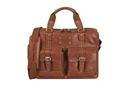 Tommy Bahama Luggage The Back 9 Briefcase, Cognac, One Size